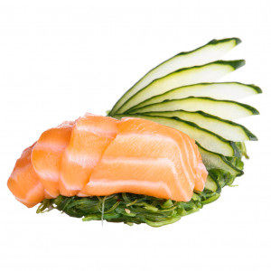 Sashimi with salmon, photo