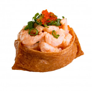 Inari with cocktail shrimp, photo