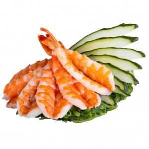 Sashimi with tiger shrimp, photo