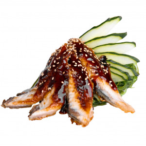 Sashimi with eel, photo