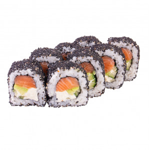 Philadelphia roll with sesame, photo