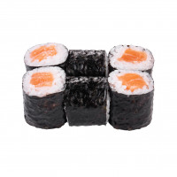 Maki roll with salmon, photo
