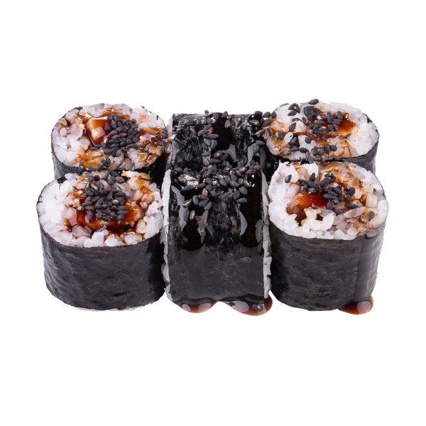 Maki Roll with eel in Odessa, photo