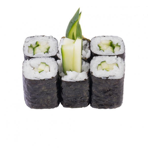 Maki roll with cucumber in Kiev, photo