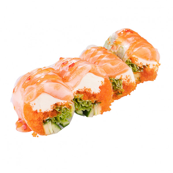 Spring roll with salmon in Odessa, photo