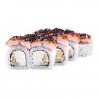Dragon roll with eel, photo