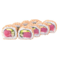 California roll with tuna in sesame, photo