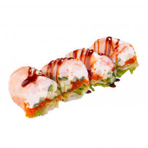 Spring roll with tiger shrimp, photo