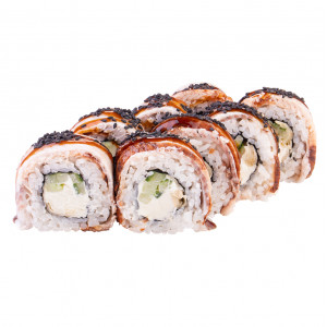 Roll in eel, photo