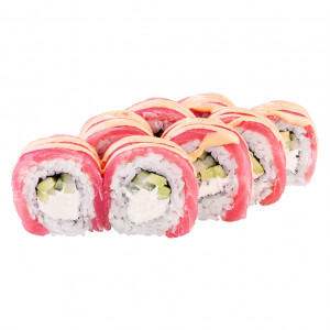Dragon roll with tuna, photo