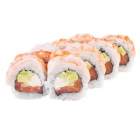 Roll with tiger shrimp, photo