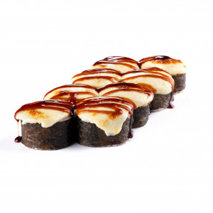 Baked roll with eel, photo
