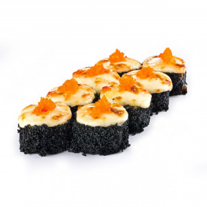 Baked roll with shrimp, photo
